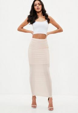 Nude Disco Slinky Midaxi Skirt