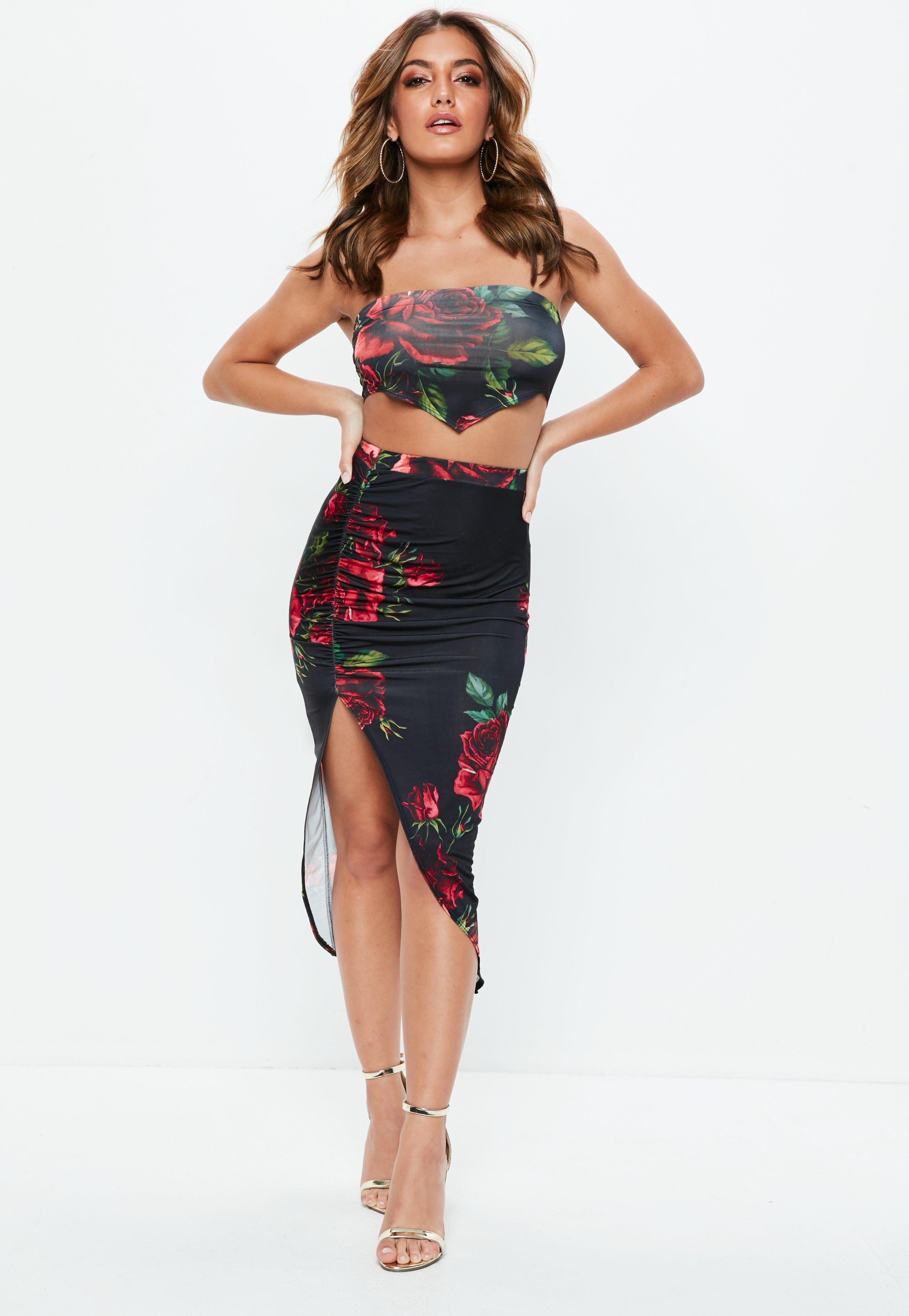 Floral Skirt Midi