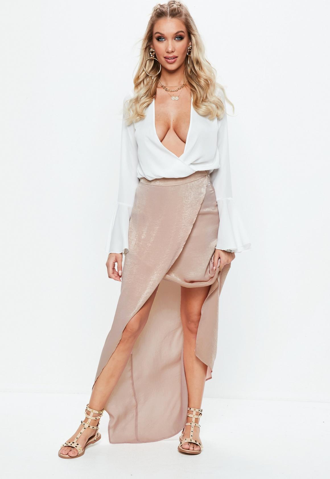 Pink Satin Skirt