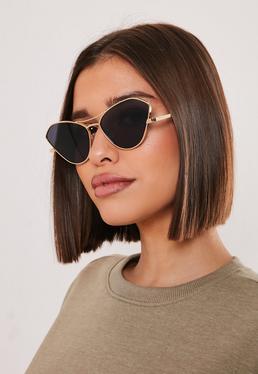 Миниатюрные солнцезащитные очки-авиаторы Gold Look