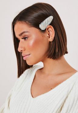 Золотая жемчужина и бриллиант для волос Diamante