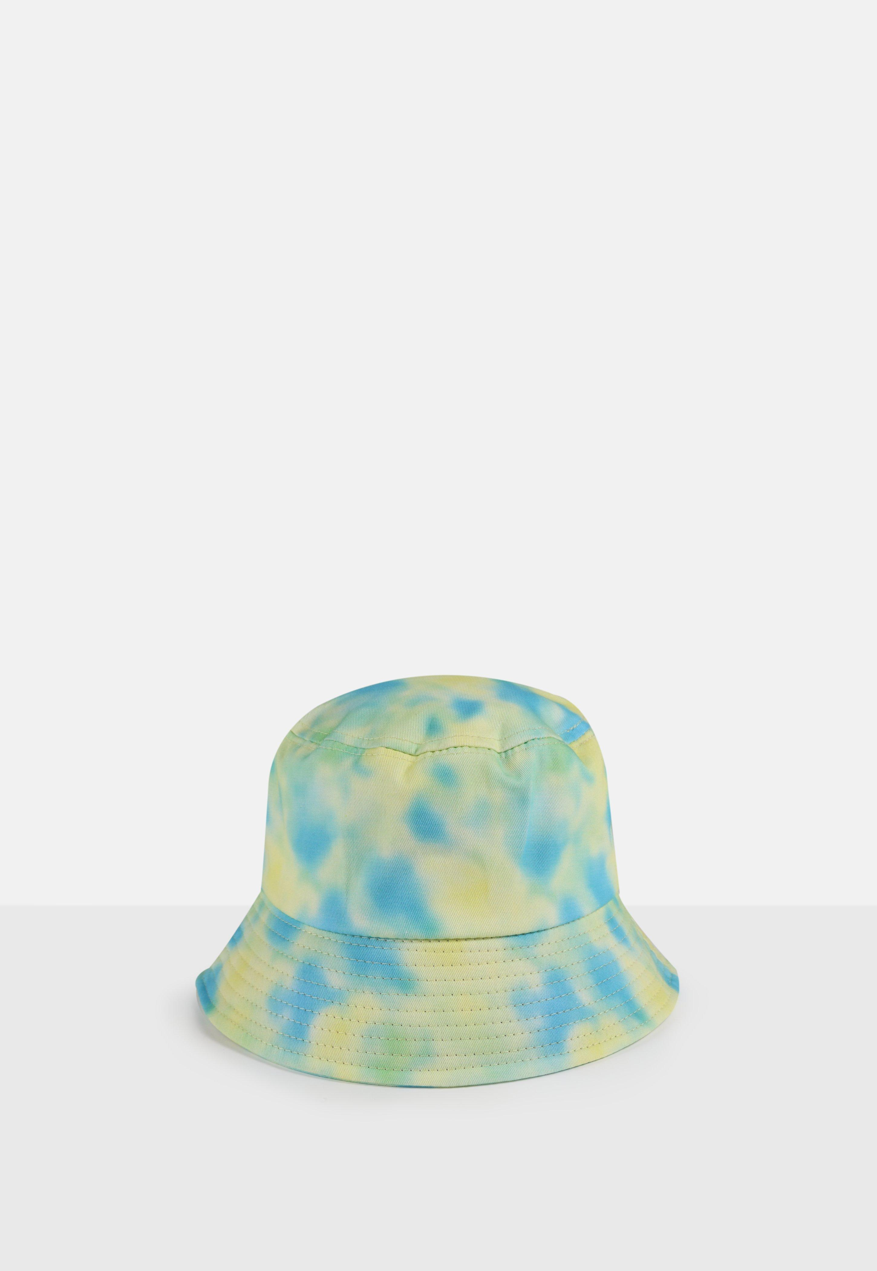 Blue And Green Tie Dye Bucket Hat Missguided