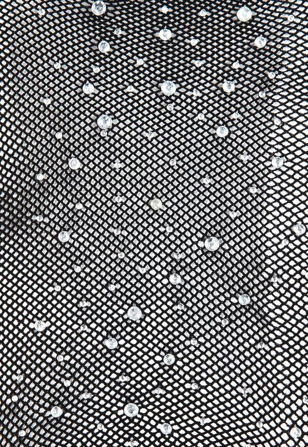 Black Diamante Fishnet Tights Missguided
