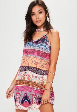 Pink Paisley Cami Dress