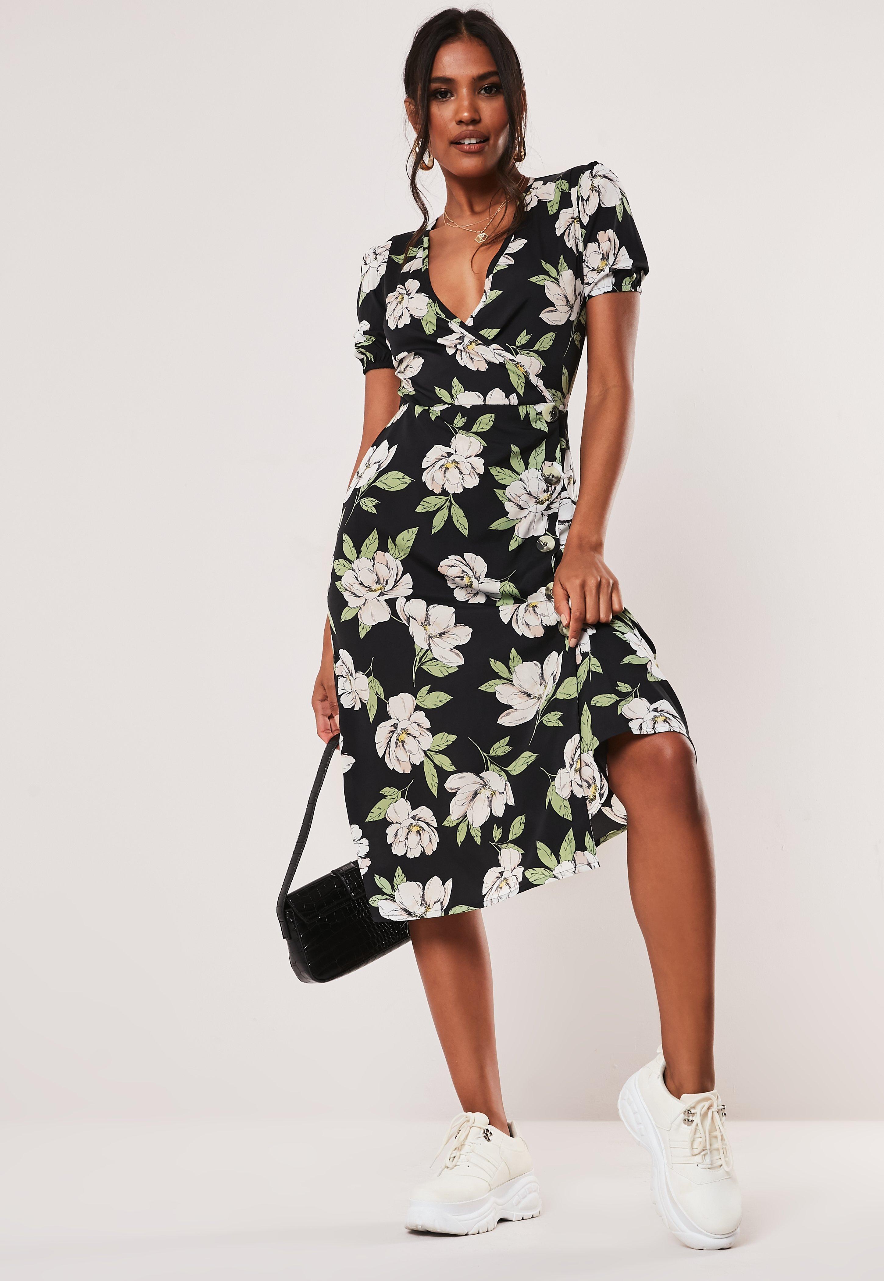 57fd09bc73eb Wrap Dresses | Wrap dress & Tie Waist Dresses - Missguided