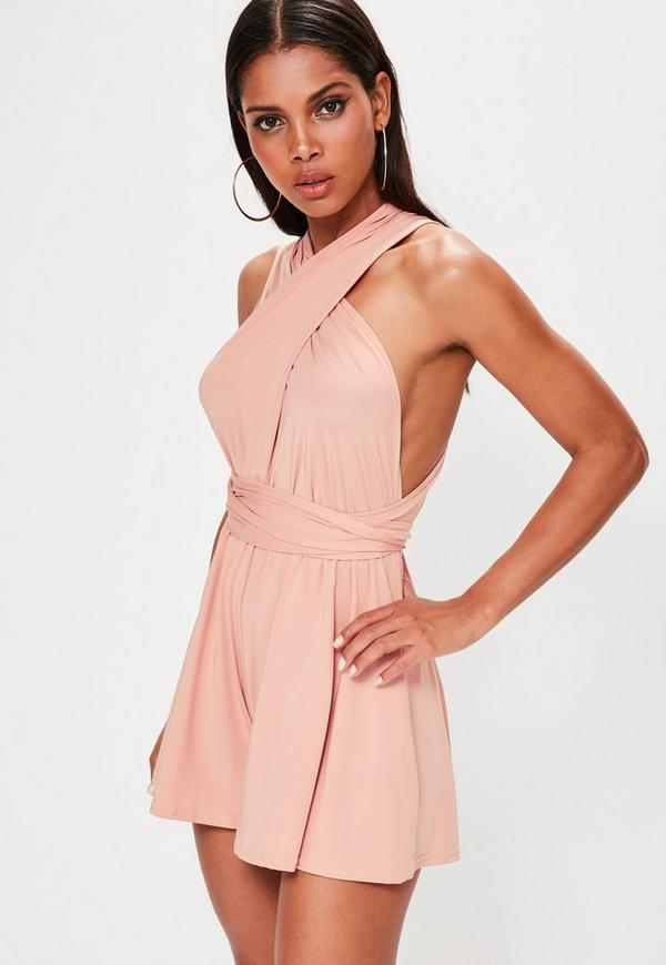 Pink Slinky Multiway Playsuit