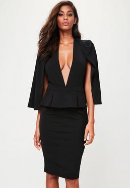 Black Cape Mini Dress