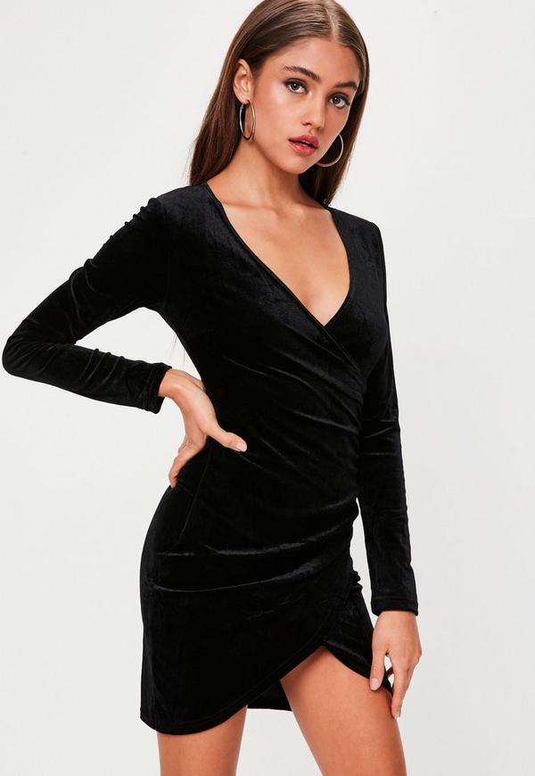 ... Black Velvet Wrap Mini Dress. Previous Next ad742fc43