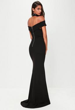 Black Cross Front Maxi Dress
