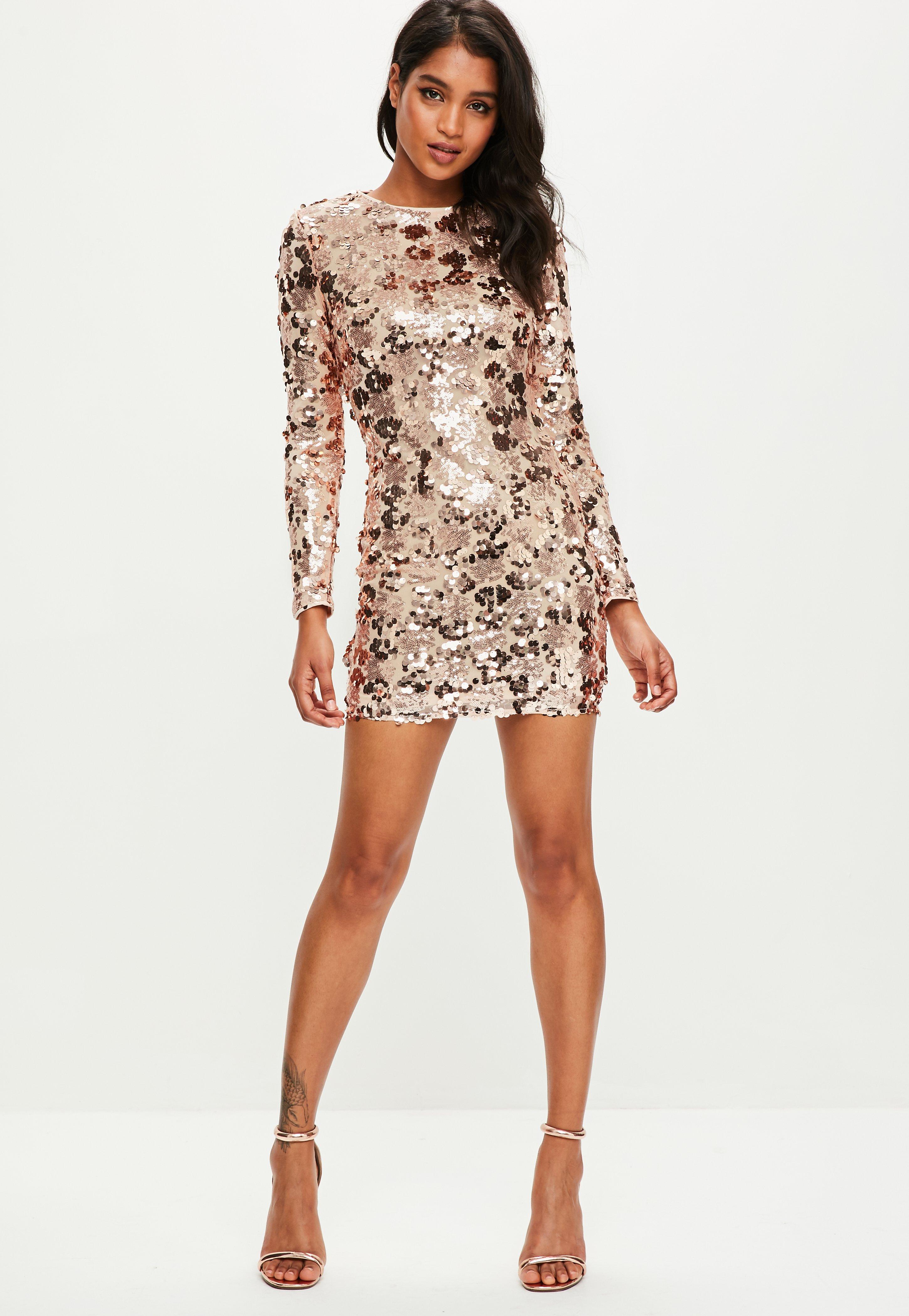 fc3c1b62f60 Gold Sequin Bodycon Prom Dress – DACC