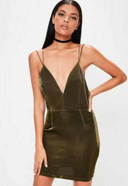 Gold Metallic Sheen Cami Dress