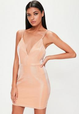 Pink Metallic Sheen Cami Dress