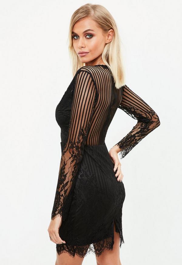 c5c27990a5 ... Black Mesh midi Plunge Dress. Previous Next