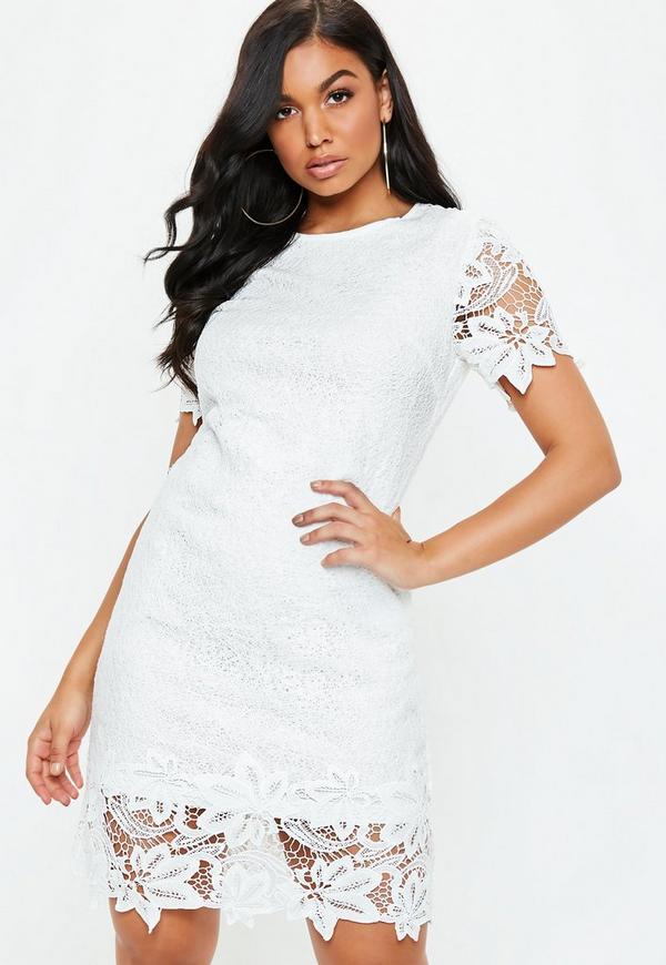 e54524bc1cab8 ... White Lace Overlay Mini Dress. Previous Next