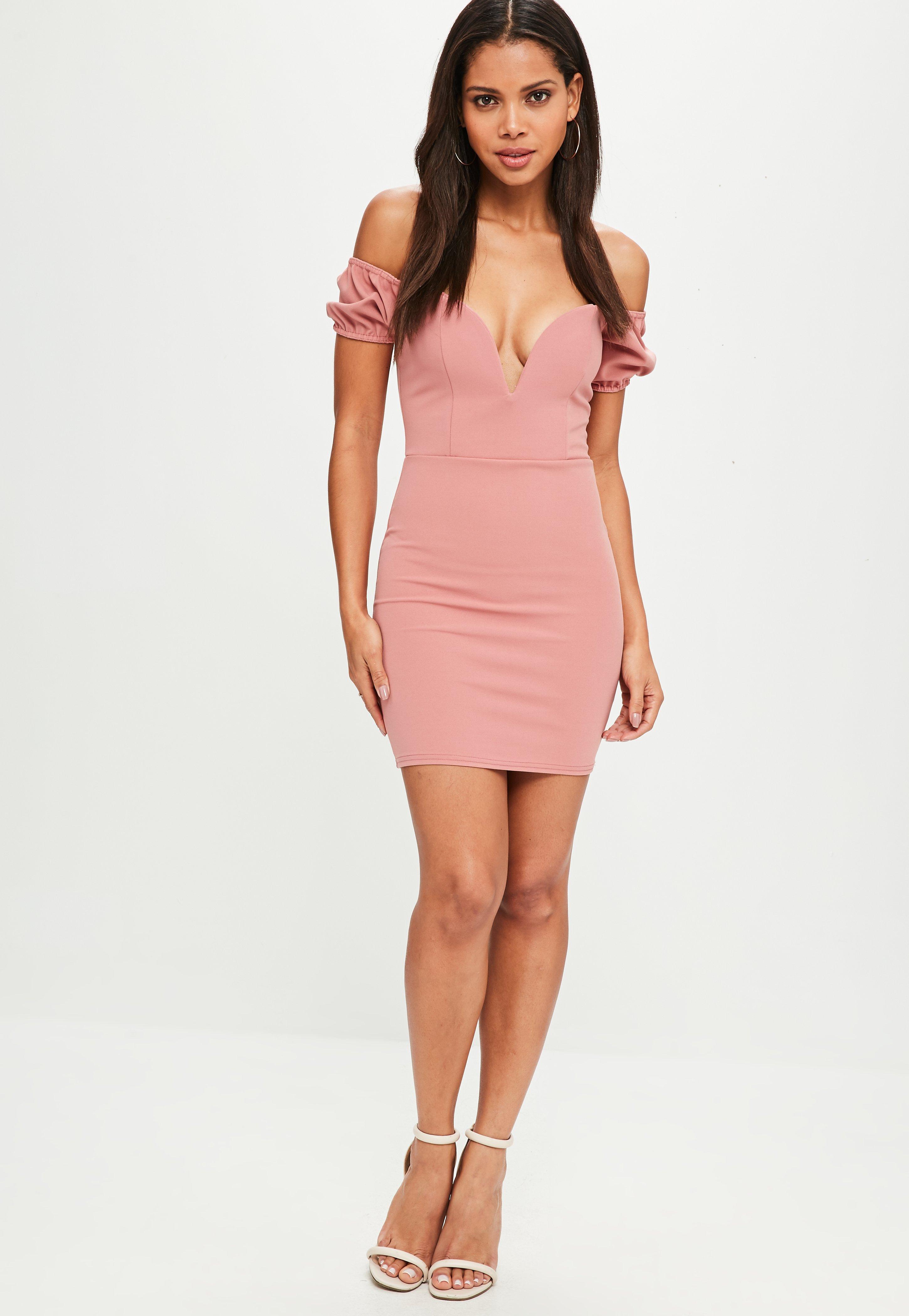 Vestidos de fiesta cortos rosa azul