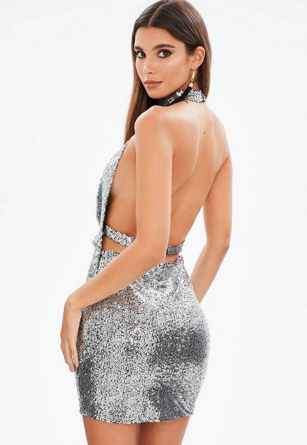 420f6a535ad ... Silver Plunge Sequin Dress. Previous Next