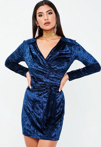 blue velvet dress missguided. Black Bedroom Furniture Sets. Home Design Ideas