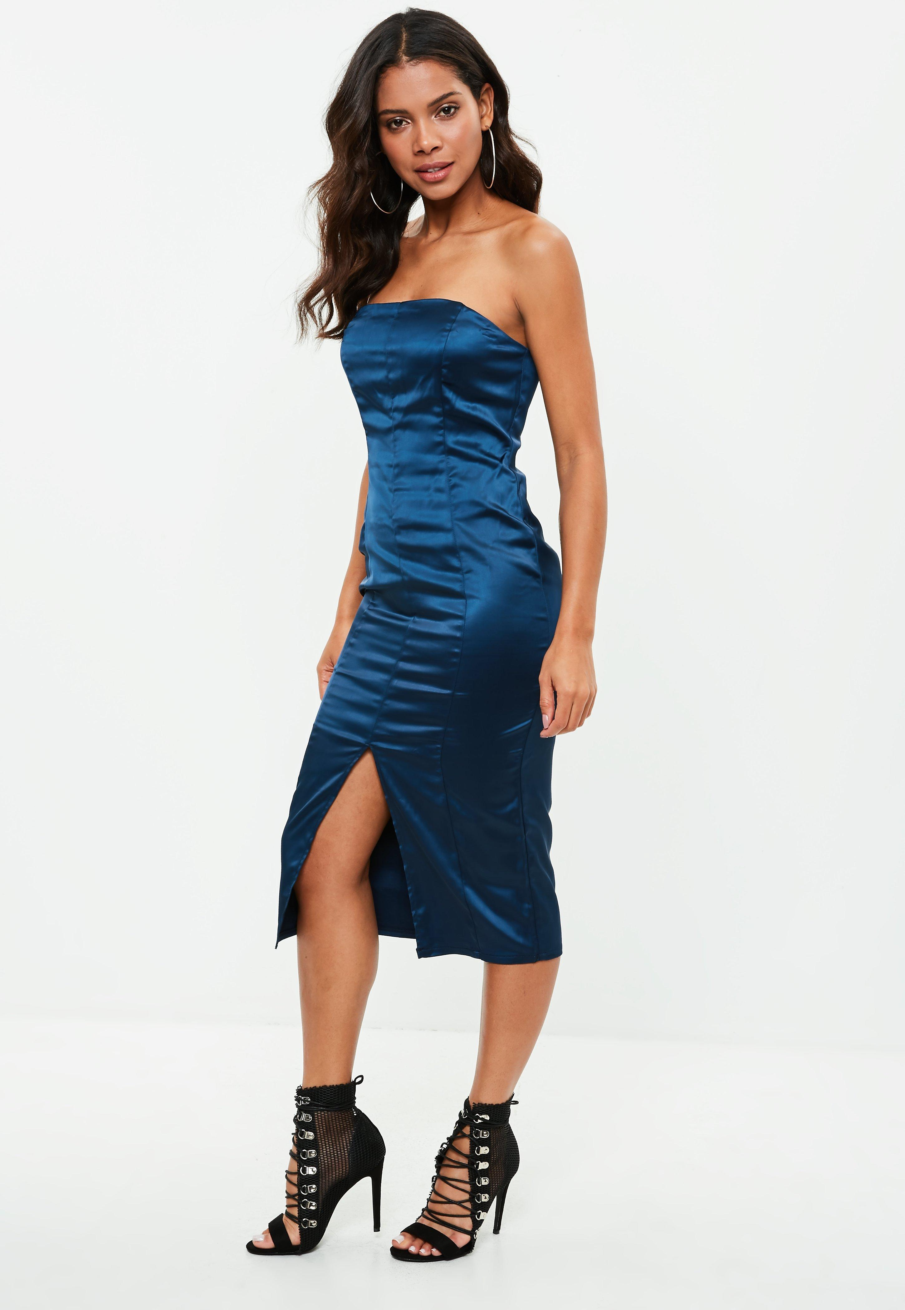 Satin Dresses | Shop Silky Dresses - Missguided