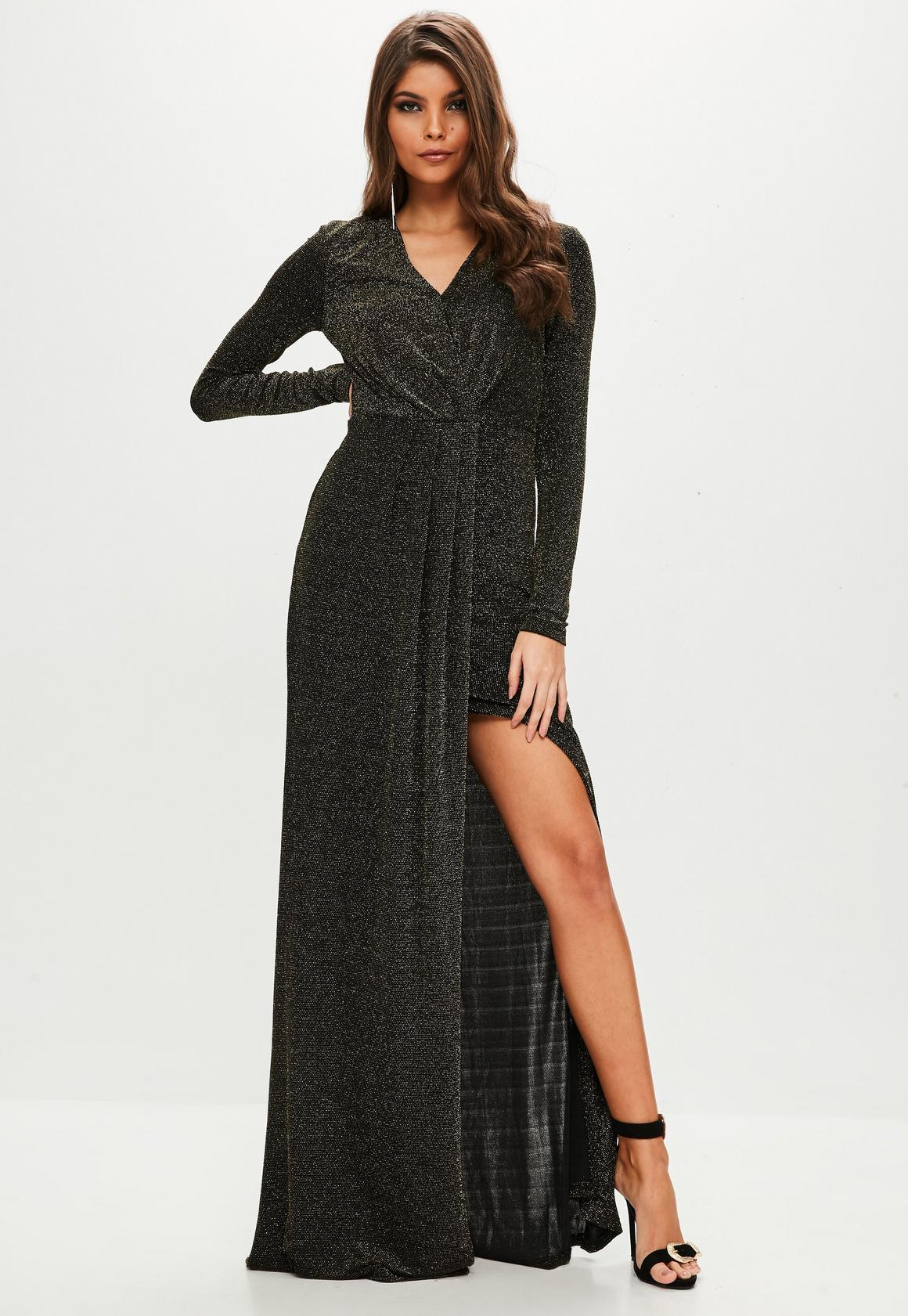 Maxi dresses with full sleeves