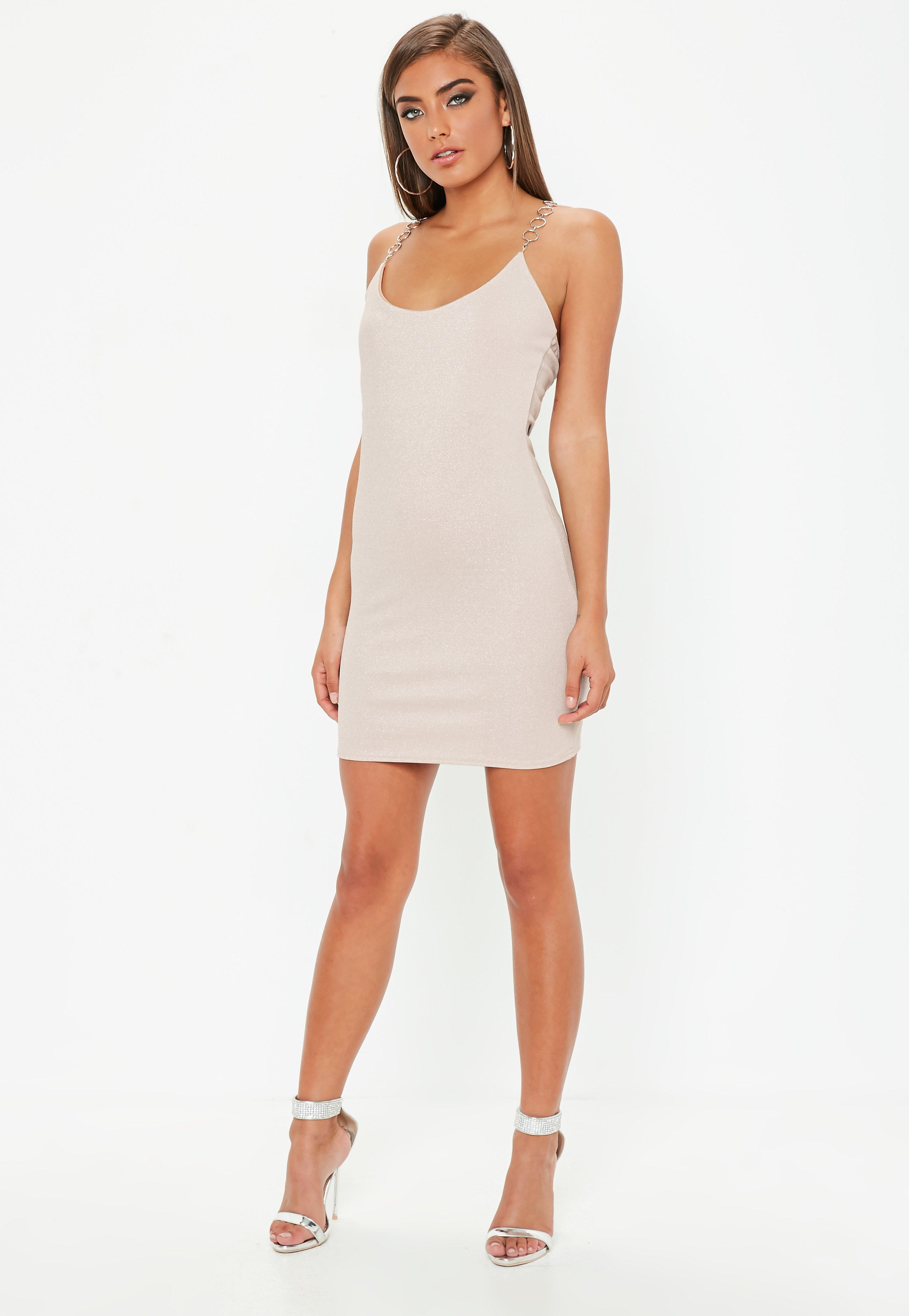 Missguided Chain T Bar Metallic Strappy Dress Sale Popular Excellent Cheap Pick A Best Cheap Online Shop Cheap With Credit Card WnT20