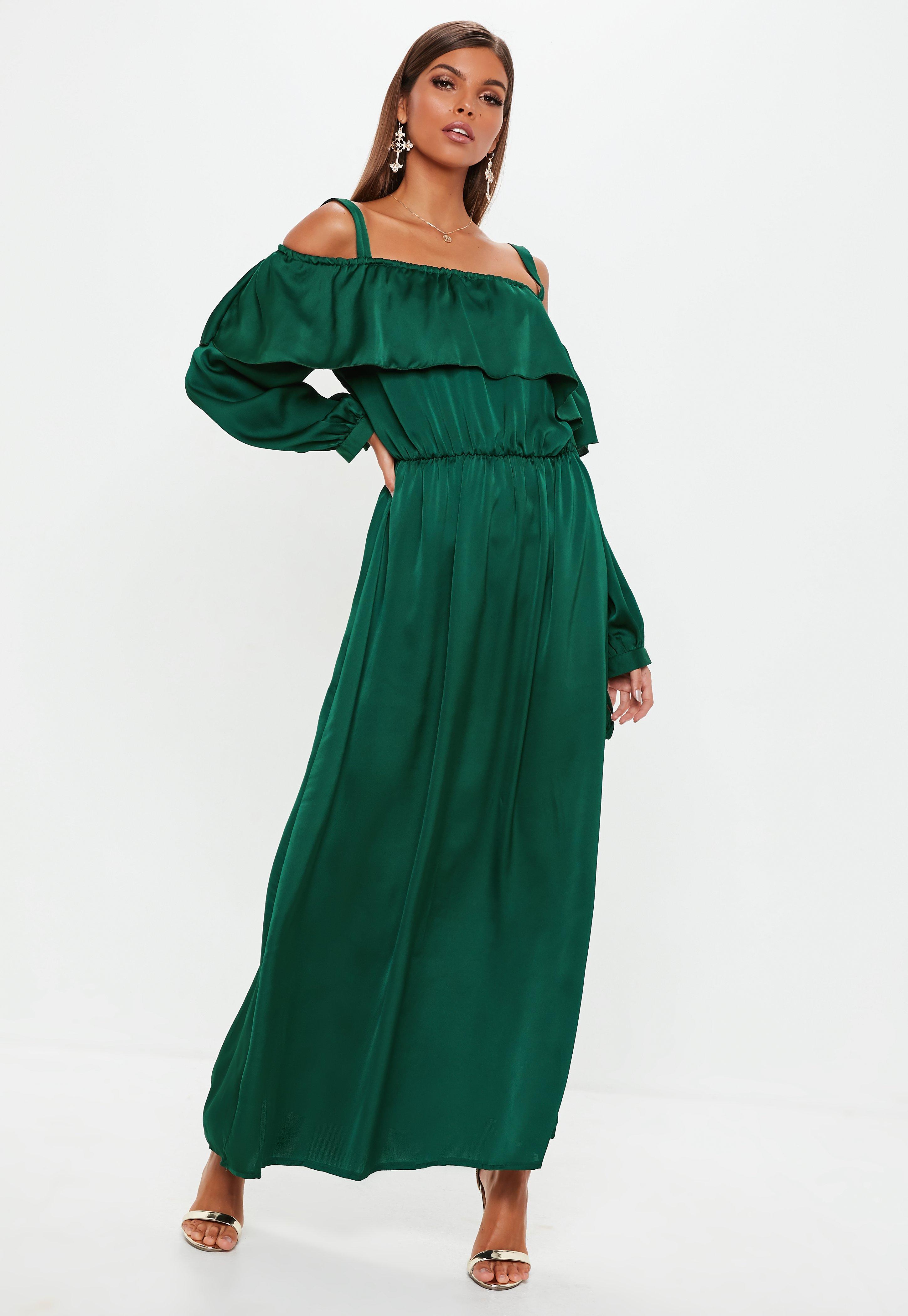 Green Dresses   Emerald Green & Teal Dresses - Missguided