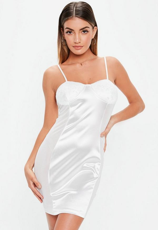 Bodycon White Lace Dress
