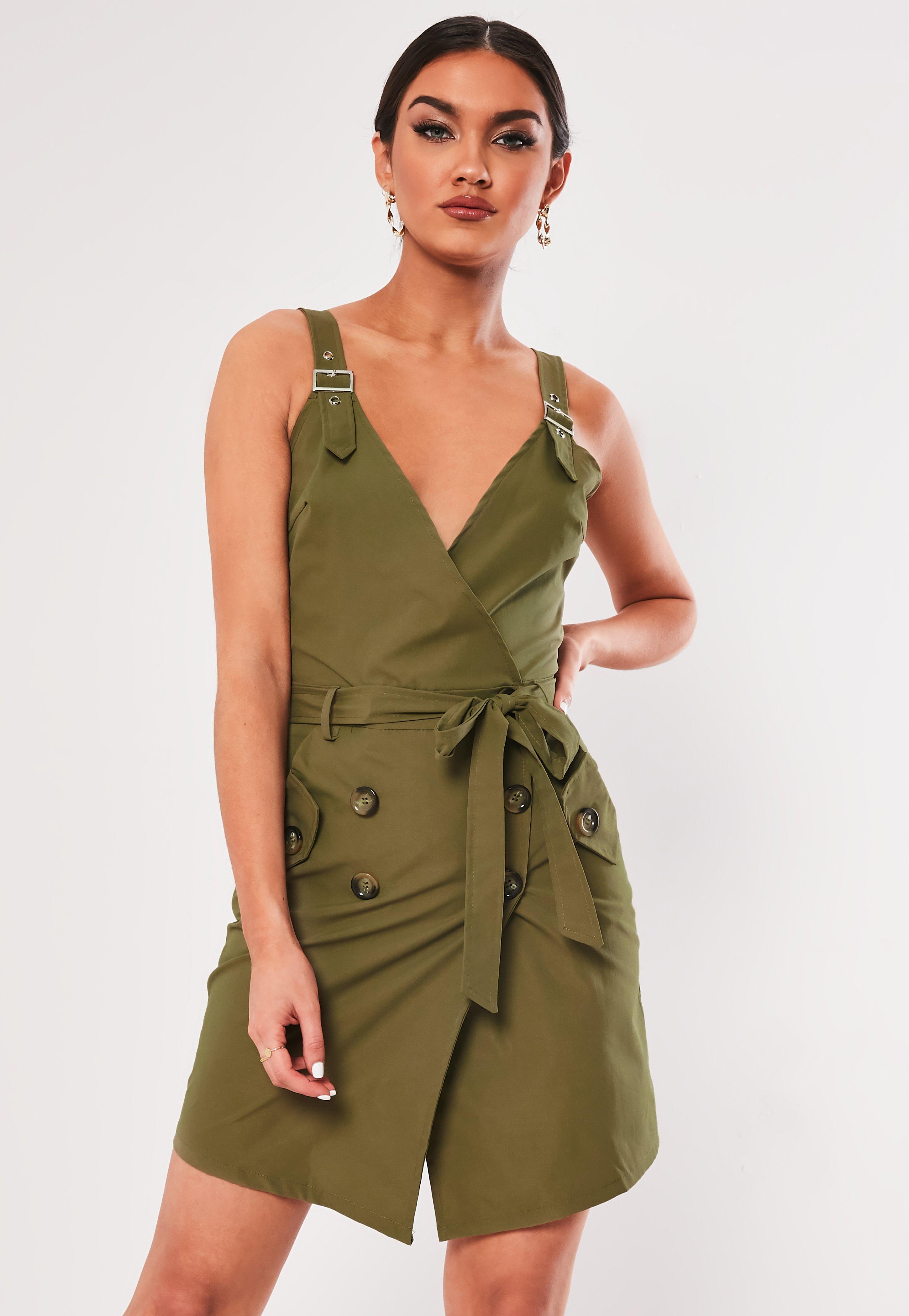 7c49b47f85db17 Khaki Dresses | Khaki Green Dresses - Missguided