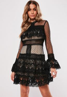 4a4e3759b1d High Neck Dresses. Long Sleeve Dresses. Lace Dresses