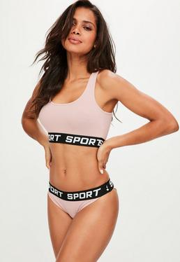 Pink Jersey Sports Set