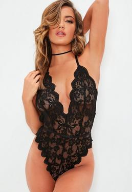 769e25ef32 Black Bodysuits
