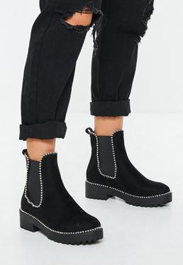 2c2a4a8eabf Ankle Boots. Block Heel Sandals. Chunky Boots