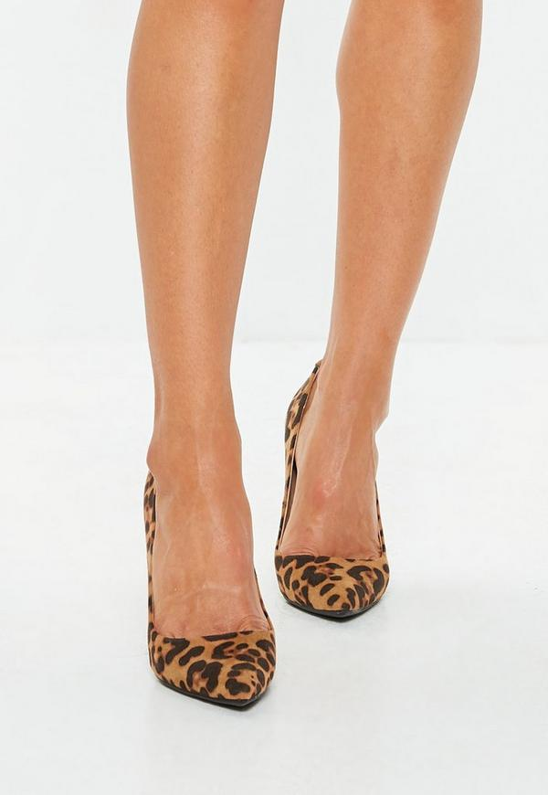 Leopard Print Pointed Court Shoes | Missguided