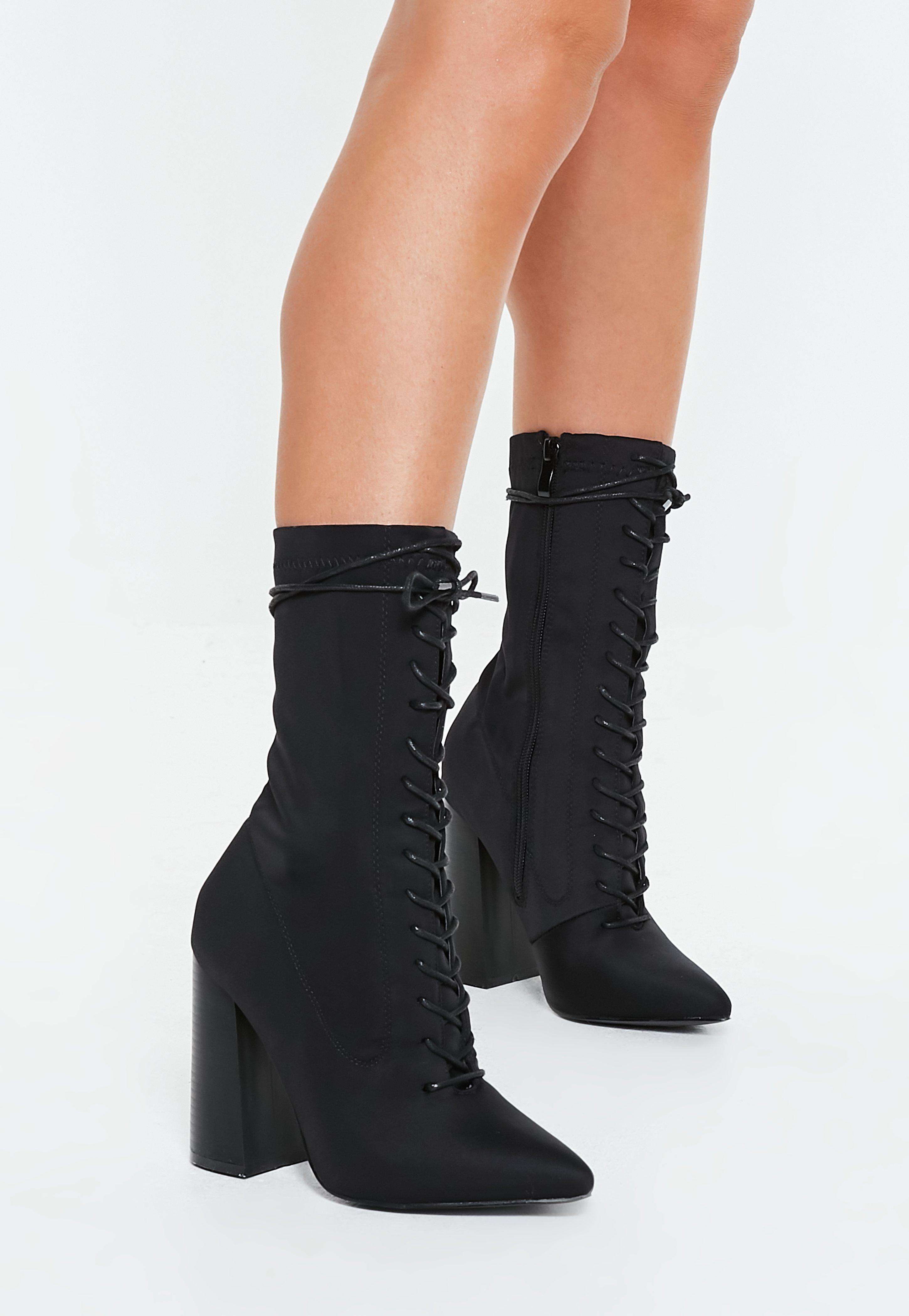 e97f241d4662 Lace up heeled boots
