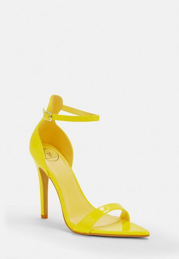 8b4e89080e30 ... Neon Yellow Pointed Barely There Heels. Previous Next
