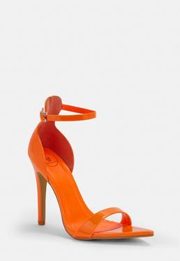 Orange Heels Burnt Orange High Heels Missguided