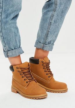 Brown Trucker Boots