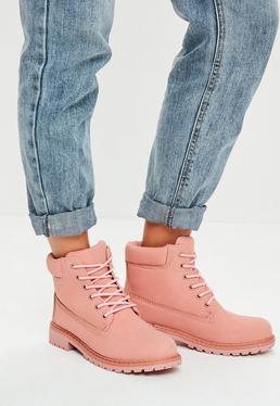 Pink Trucker Boots