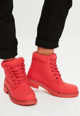 Red Trucker Boots