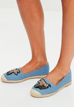 Blue Fly Denim Espadrilles