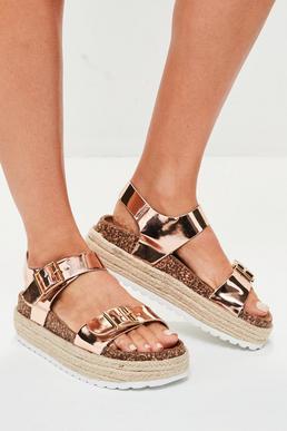 Brown Buckle Sandal