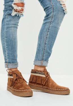 Brown Tassel Festival Boots