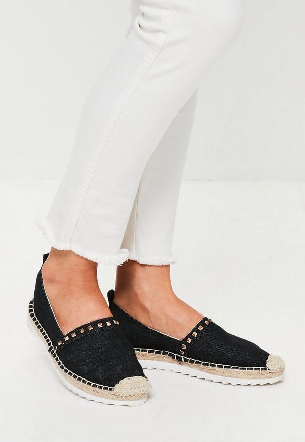 Black Denim Espadrilles