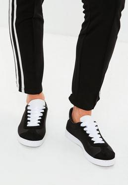 Black Satin Sneakers