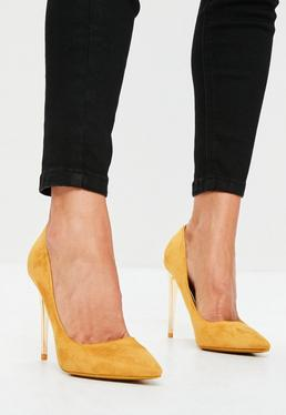Yellow Pointed Pumps
