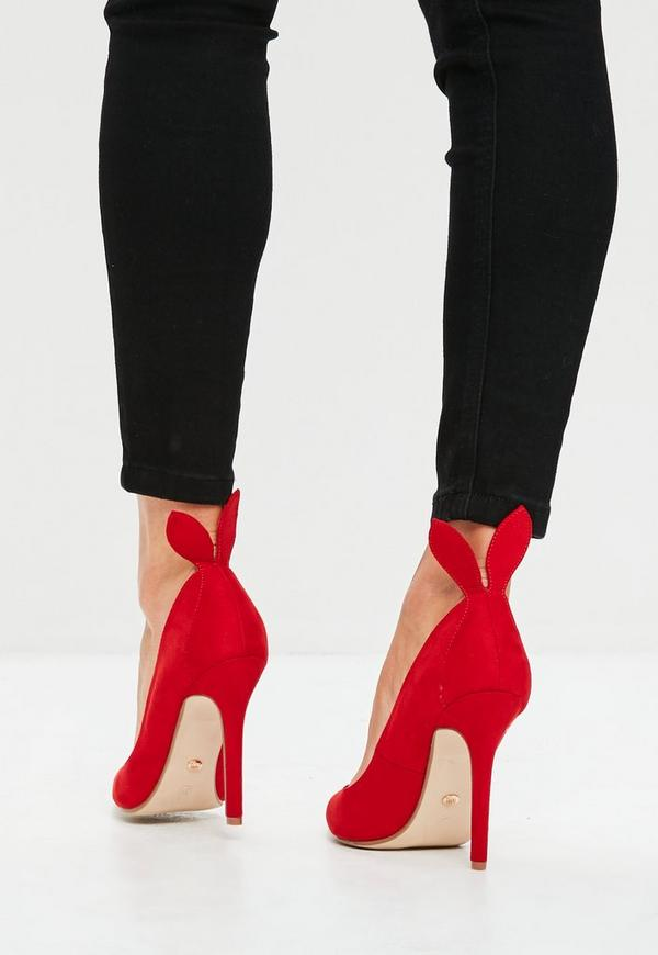 Red Bunny Ears Court Shoes | Missguided