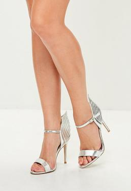 Silver Wing Back Barley There Heels