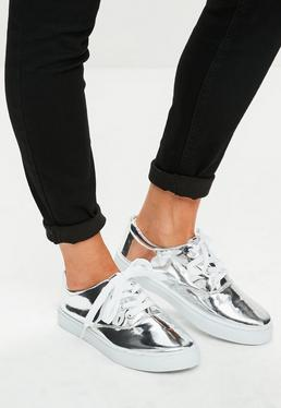Silver Skater Trainers