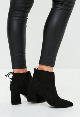 Black Tie Minimal Pointed Boots