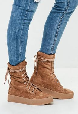 Camel Creeper Sole Ankle Boots