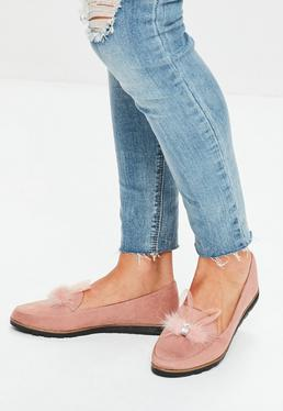 Pink Bunny Ear Loafers